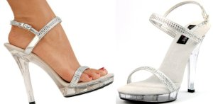 Clear Lucite and Rhinestone Sandal at Michael's Clogs