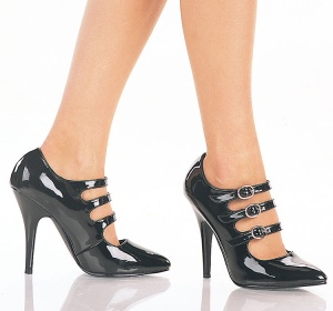 """Seduce"" - Women's Triple Strap Mary Jane Style Pumps/Shoes"