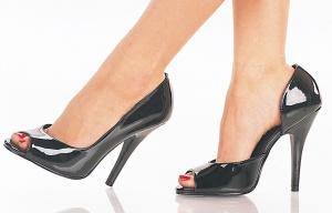 """Seduce"" - Women's Peep Toe Pumps/Shoes with Instep Cutout"
