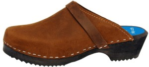 Cape Clog Brown Nubuck Leather